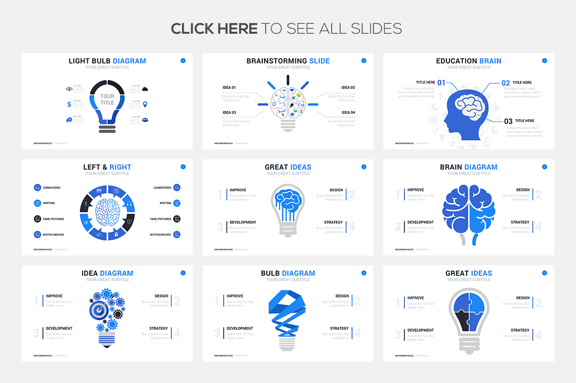 Ideas Infographics Templates - PowerPoint Templates - Keynote Themes - Google Slides.psd
