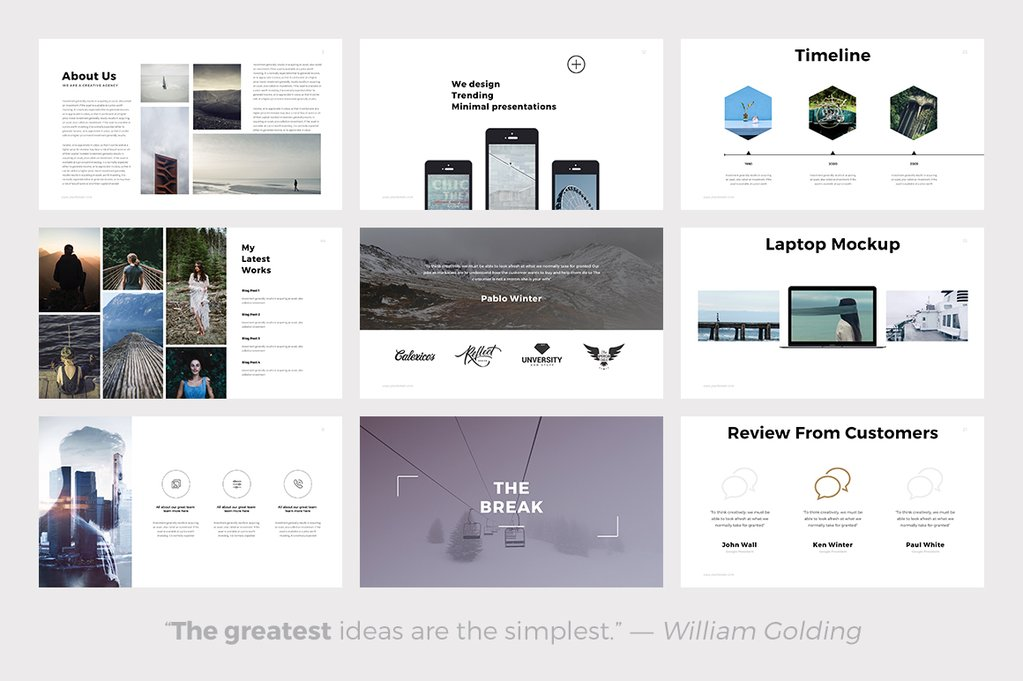 Quintus Minimal - PowerPoint Templates - Keynote Themes - Google Slides