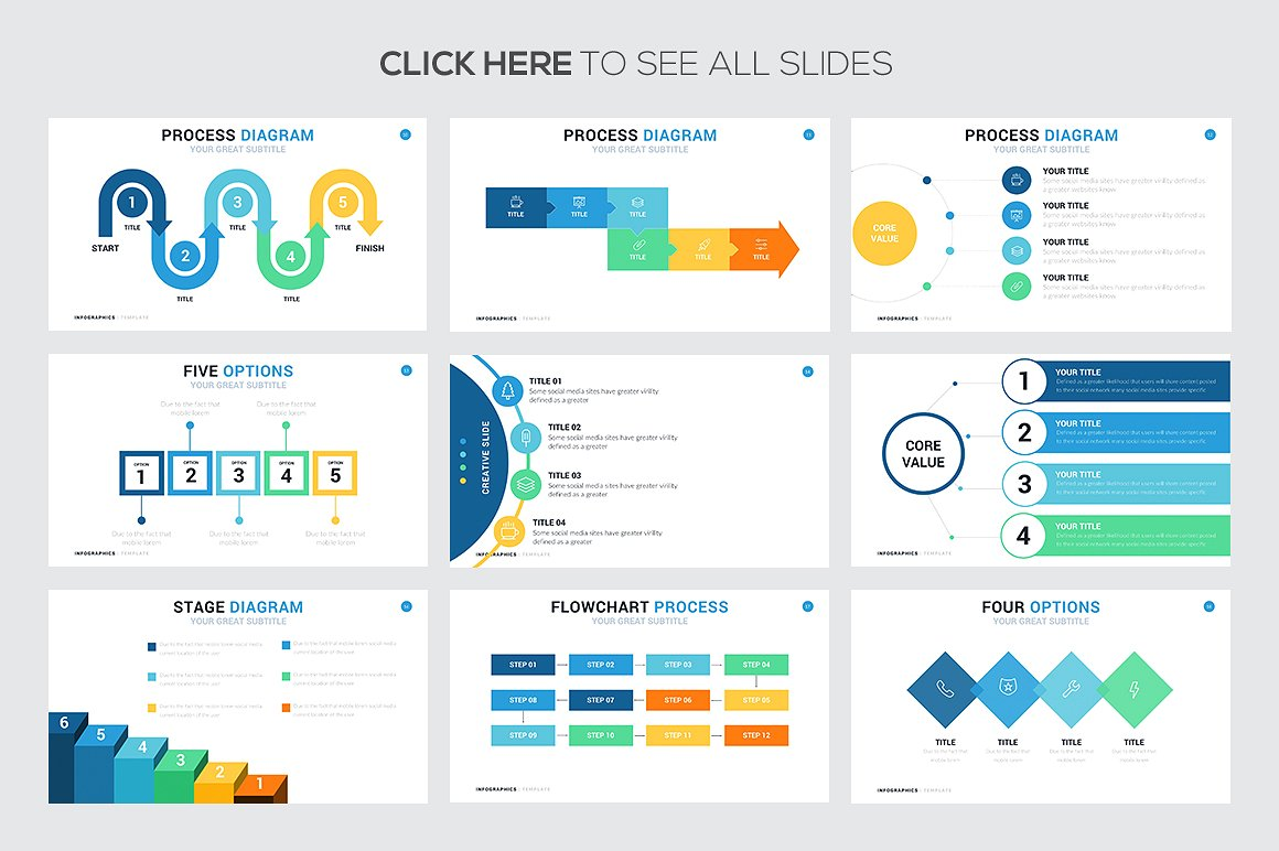 74 Steps And Process Infographic Templates Powerpoint Keynote