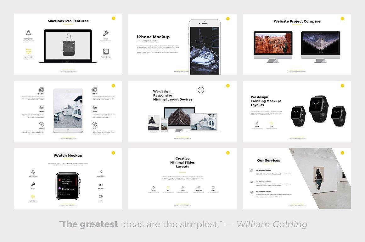 Phlox minimal powerpoint template 04 phlox minimal powerpoint templates keynote themes google slides toneelgroepblik Images