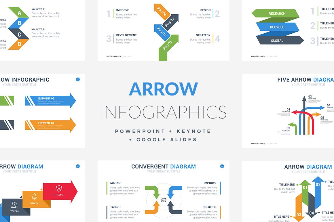 35 Arrow Infographic Template Powerpoint Keynote Google Slides