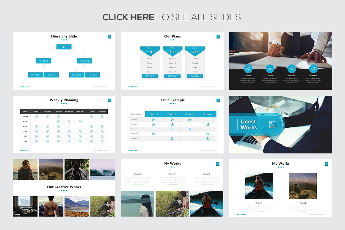 Investor pro powerpoint template investor pro powerpoint templates keynote themes google slides toneelgroepblik Image collections