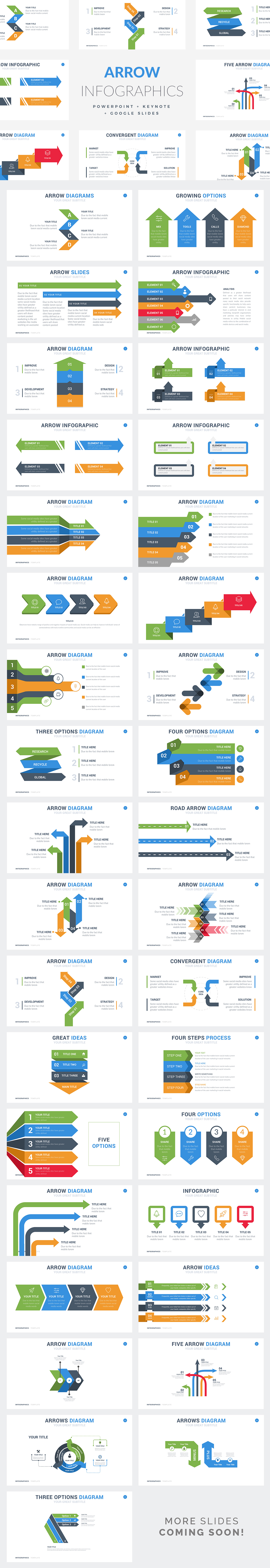 Arrow Inforgraphic Templates - PowerPoint Templates - Keynote Themes - Google Slides.psd