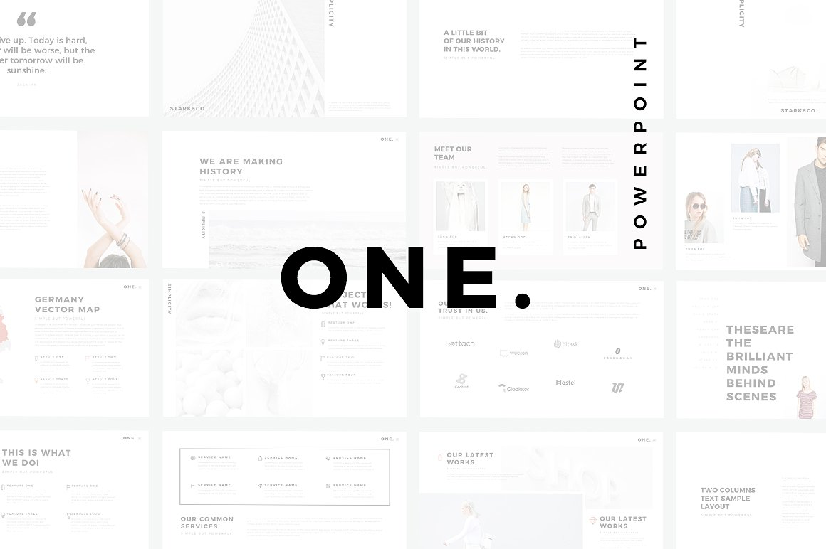 One minimal powerpoint template one minimal powerpoint templates keynote themes google slidesg toneelgroepblik Gallery