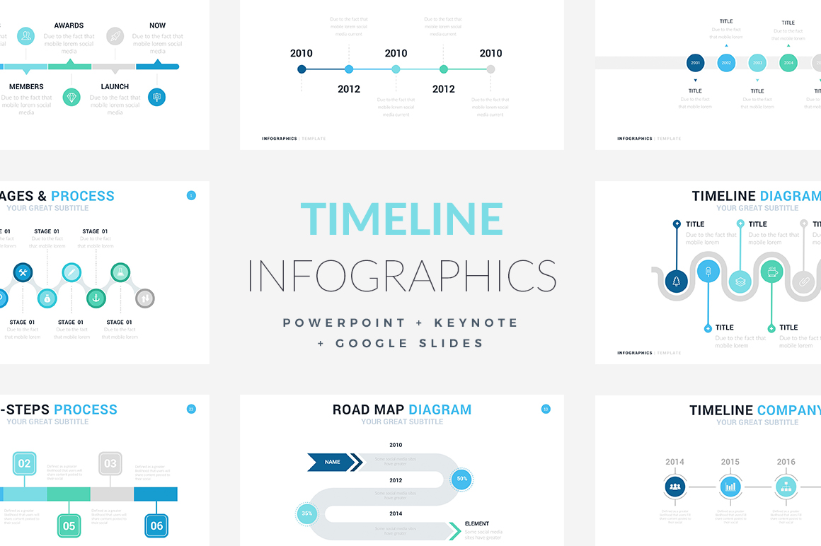 Timeline Infographic Templates PowerPoint Template Keynote Themes Google Slides