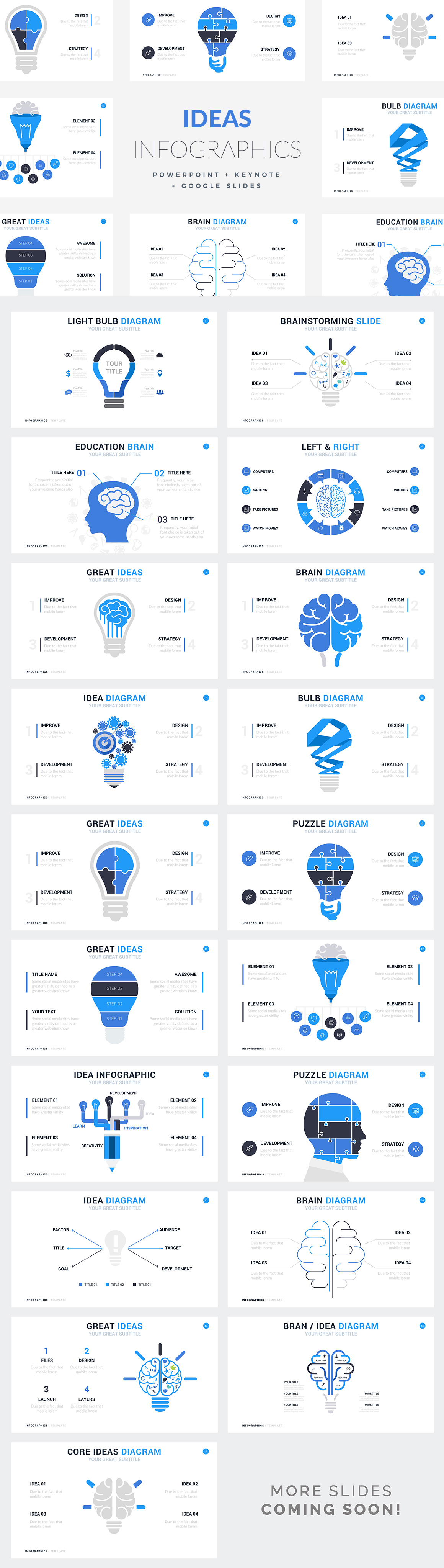 Ideas Infographic Templates - PowerPoint Templates - Keynote Themes - Google Slides