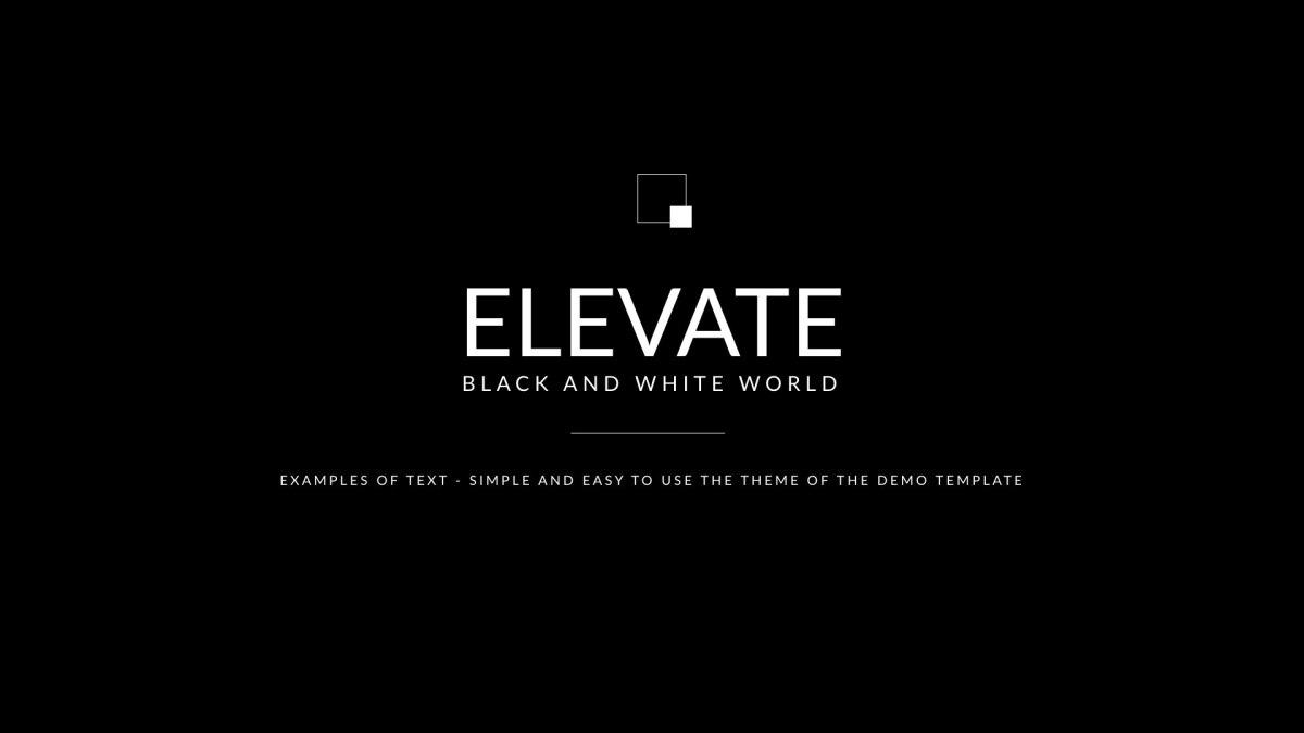 Black & White - Clean Keynote Template