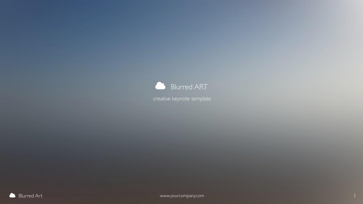 Blurred Art - Creative Keynote Template