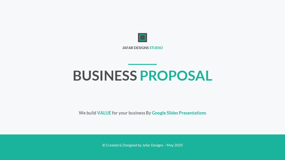 Business Proposal Google Slides Template