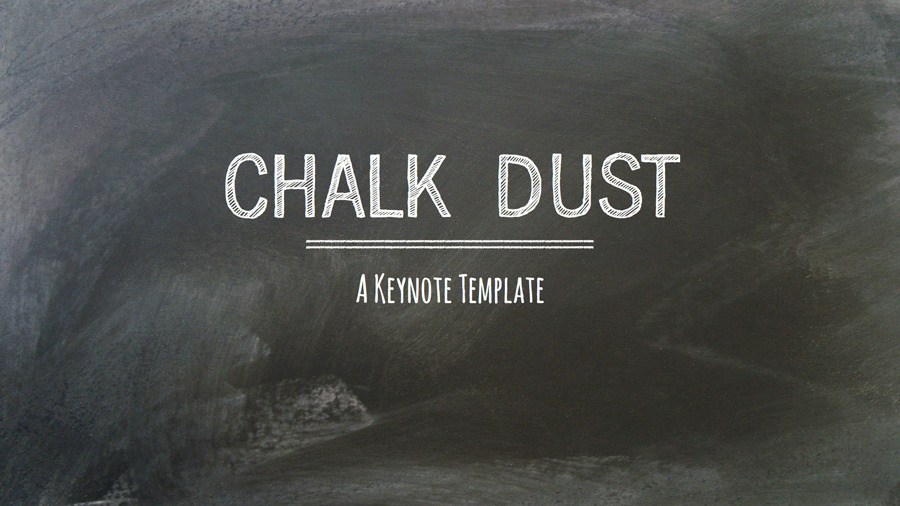 Chalk Dust Keynote Presentation Template