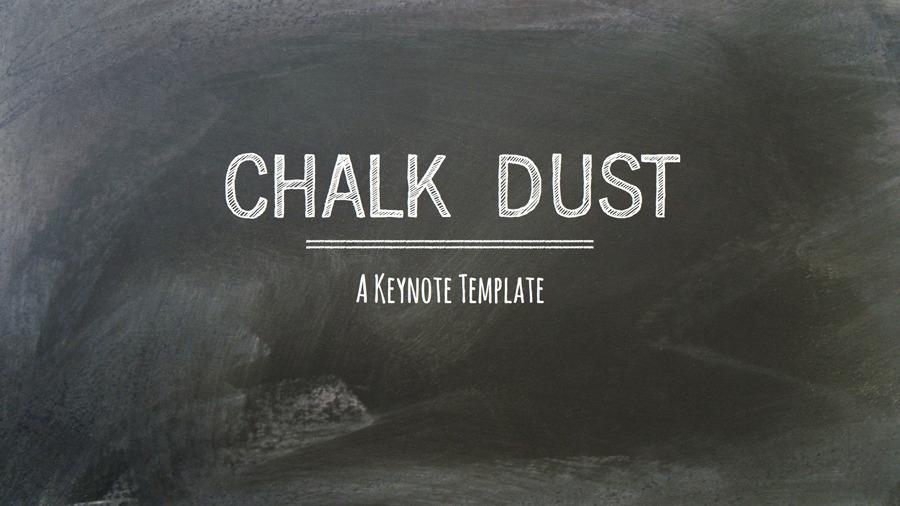 Chalk Dust Keynote Presentation Template