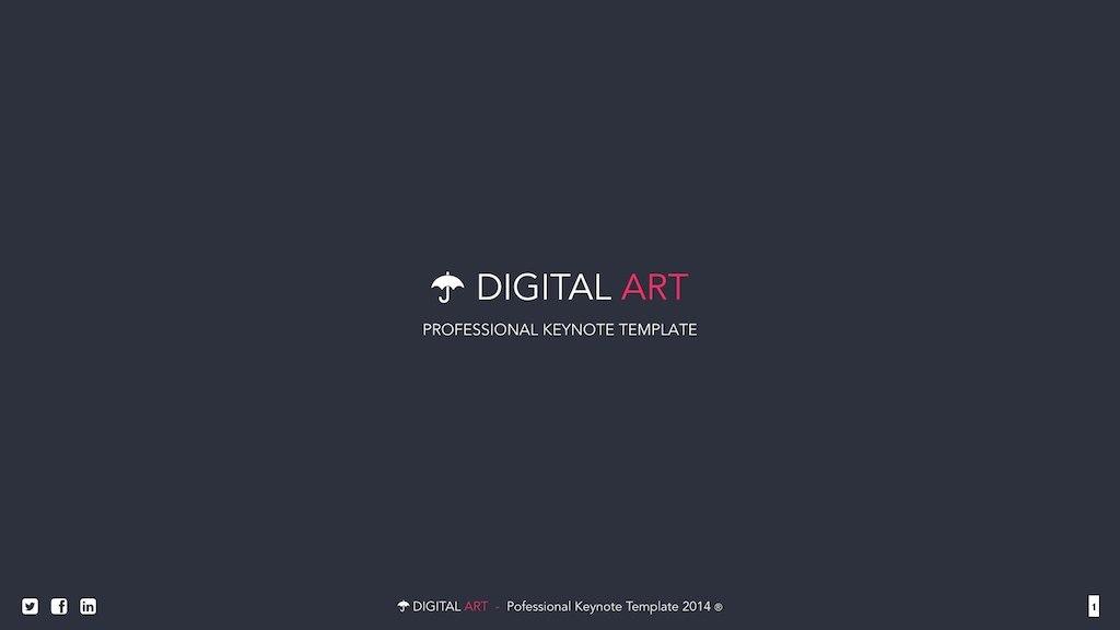 Digital Art - Creative Keynote Template