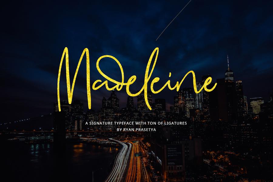 Madeleine Script Free Signature Font