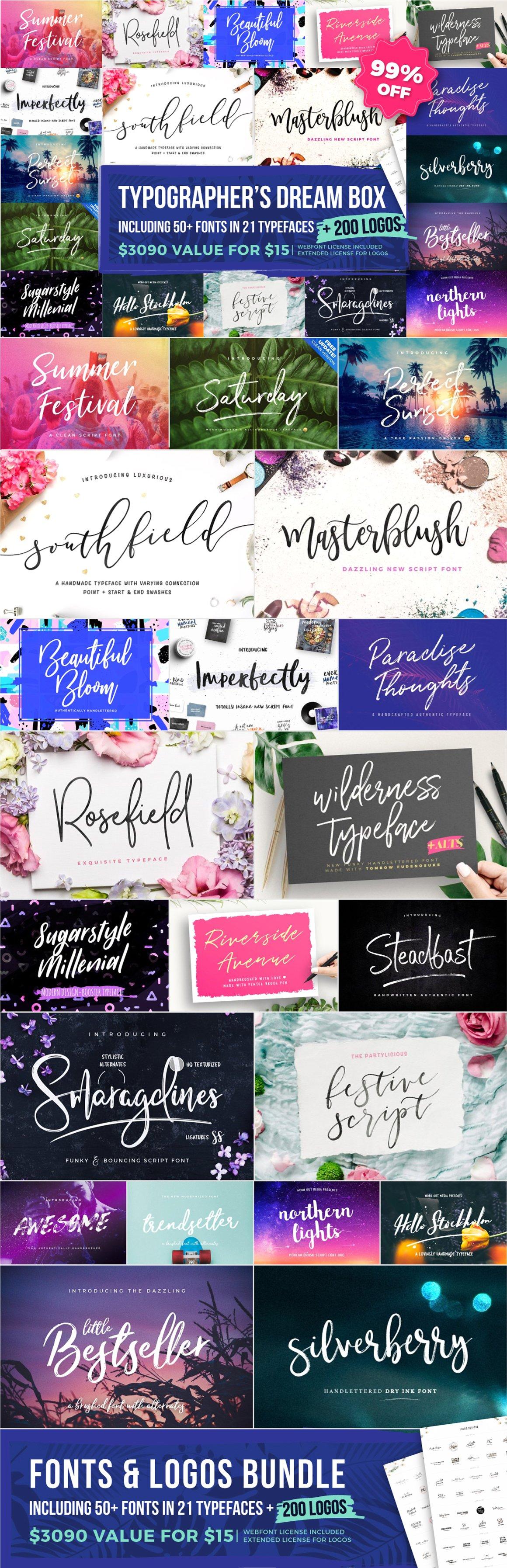 Typographer's Dream Box +200 Logos