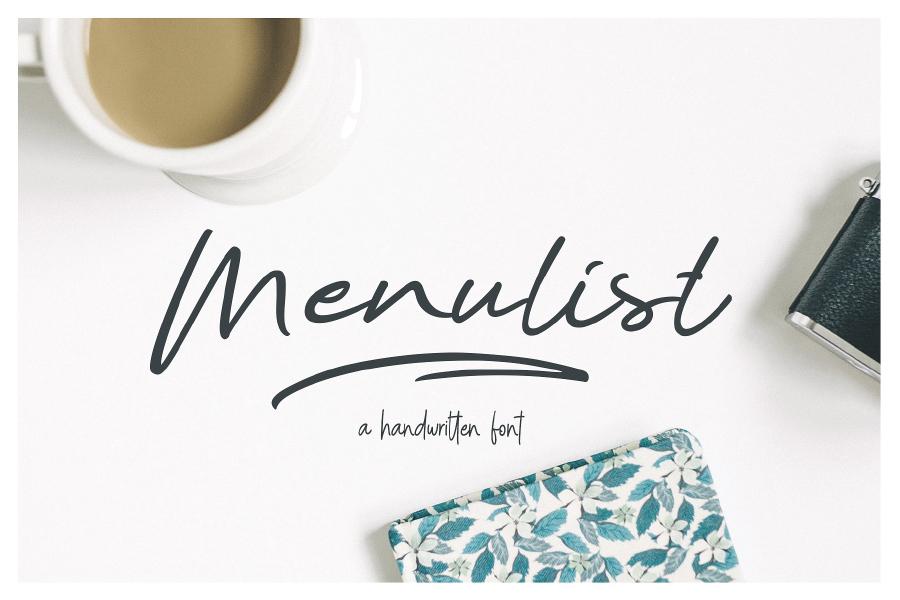 Menulist Beauty Free Font