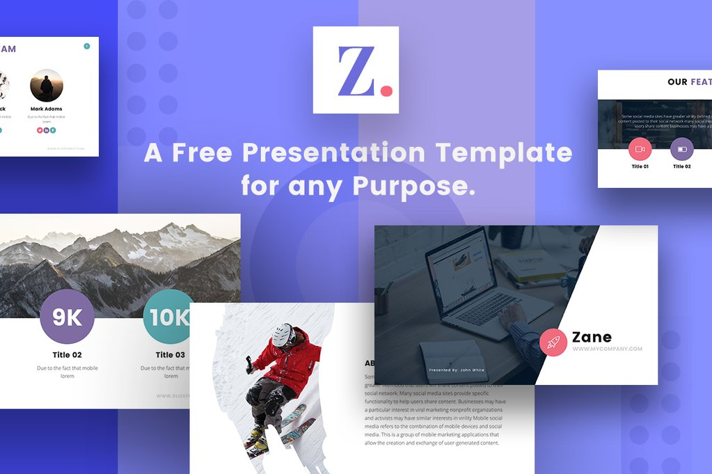 Zane Free Powerpoint Template Keynote Theme And Google Slides