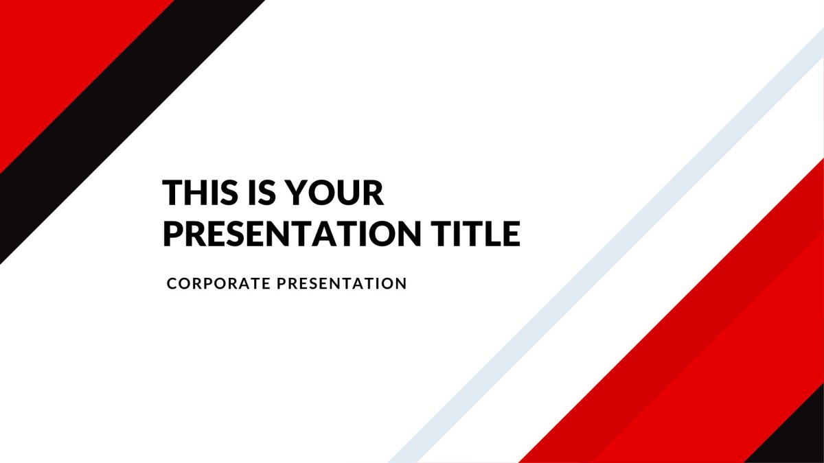 Market Real Estate Free PowerPoint Template