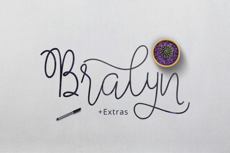 Bralyn Script Free Font Demo