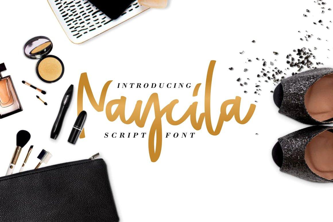 01 - Naycilla Script Font Demo