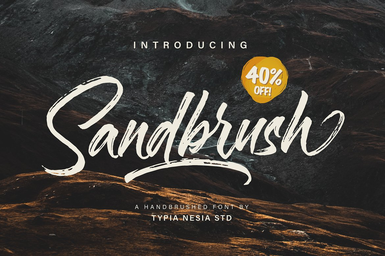 01 - Sandbrush Script Font Demo