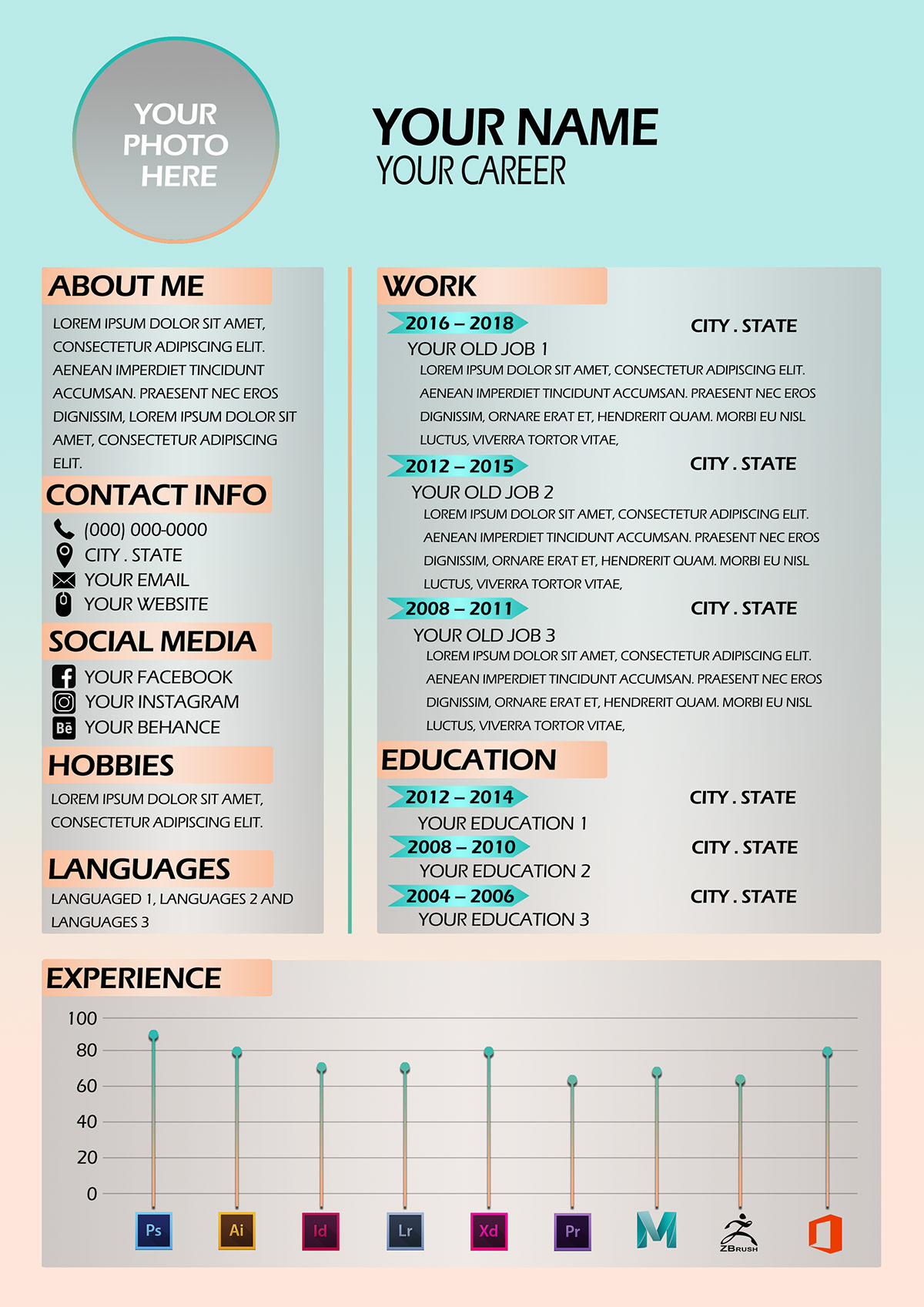 Free Designers Resume Template PSD - The Best id resume template