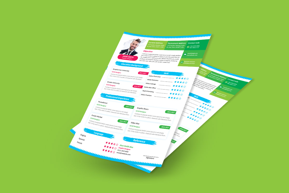 This Free Resume Template Has Many Colors That Make Your Accomplishments Pop Out And Show Youre Perfect For The Job Because Of Creative
