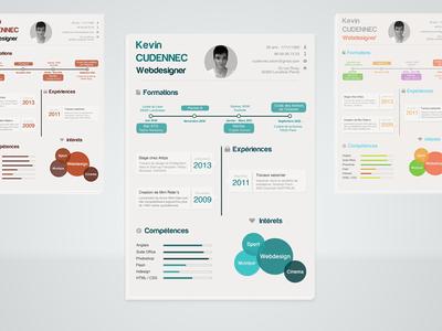 Infographic Resume PSD