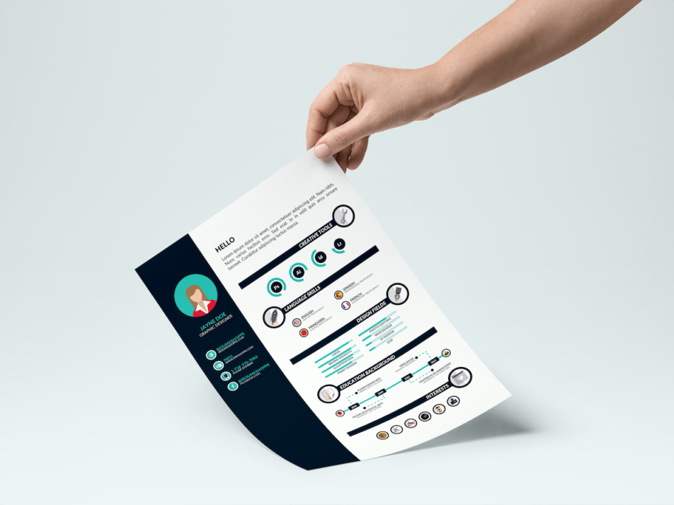 Infographic Resume Template Vector (AI)
