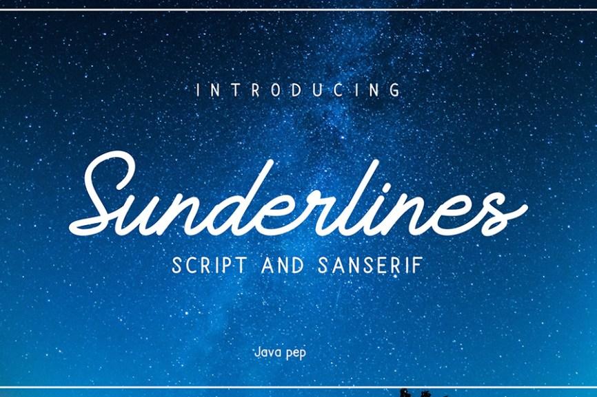01 - Sunderline Script Free Demo