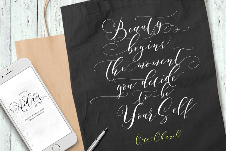 02 - Aidan Romantic Script Font