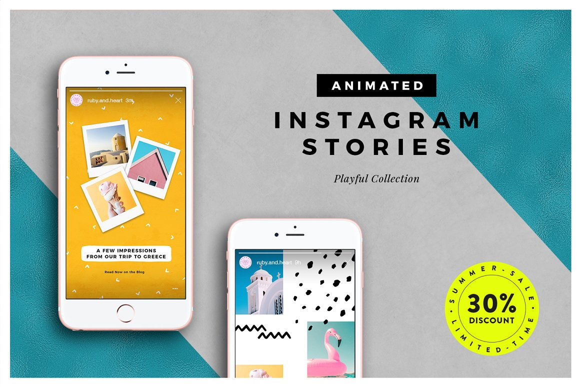 13. ANIMATED Playful Instagram Stories