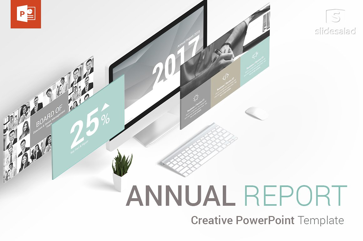 27 - Annual Report PowerPoint Template