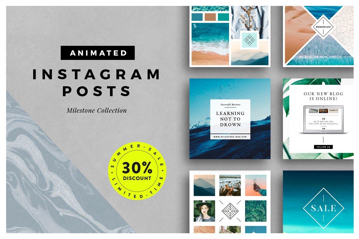 42. ANIMATED Milestone Instagram Posts