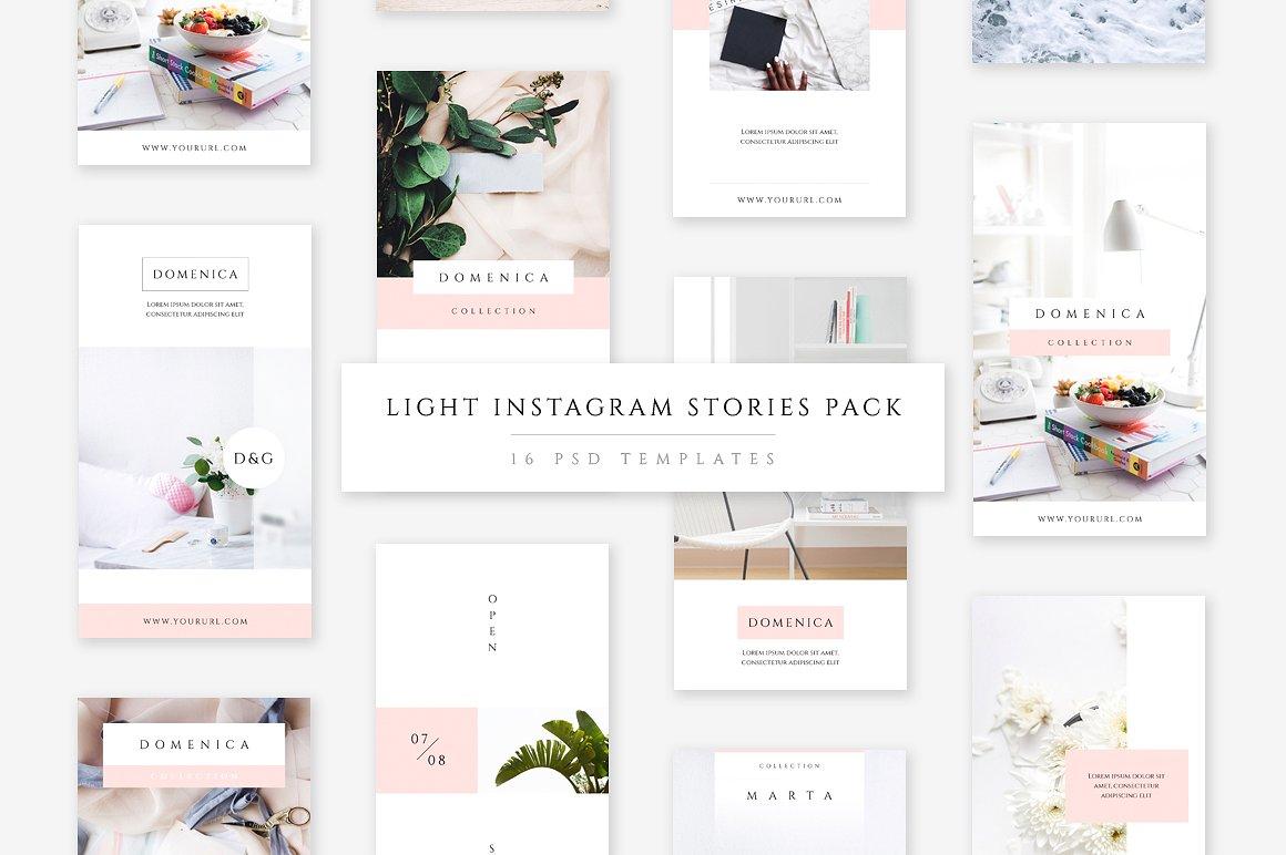 43. Light Instagram Stories Pack