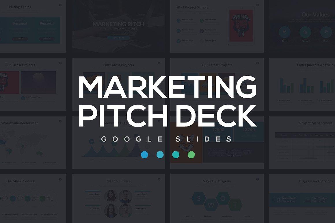 Marketing Pitch Deck Google Slides Template 1