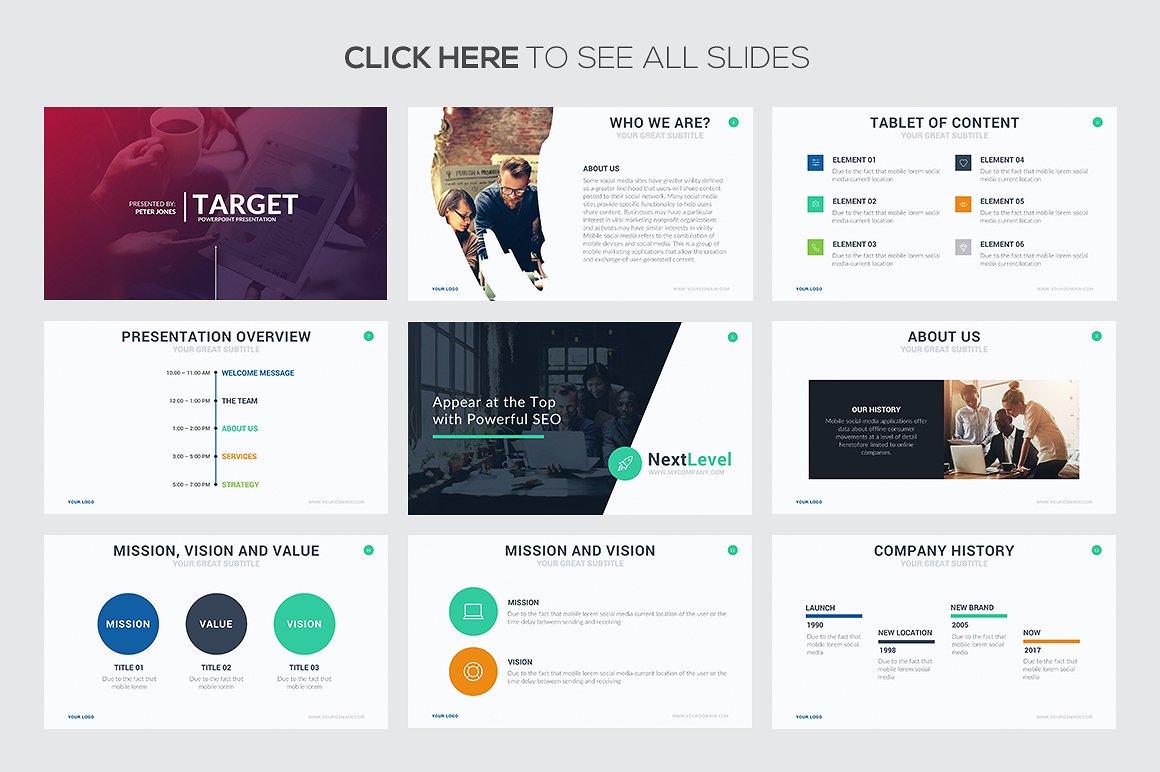 Target Google Slides Template 2