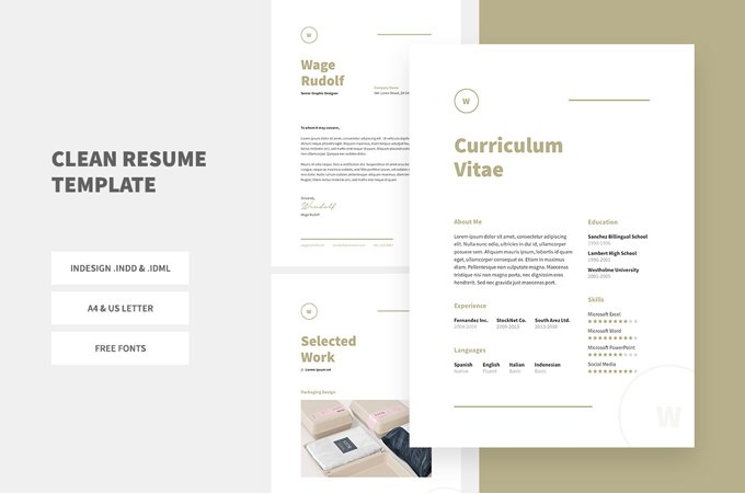 1   Clean Resume Template