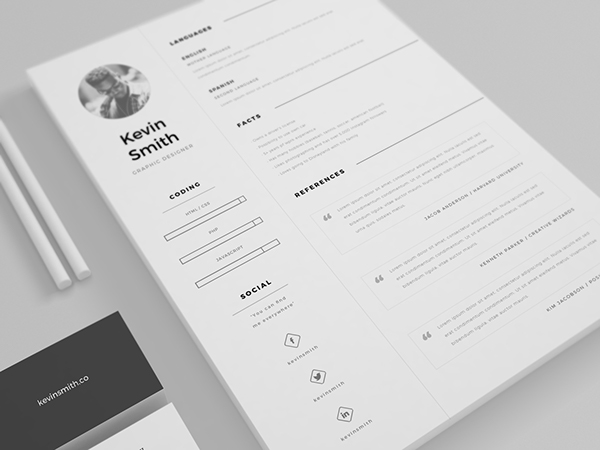 1 - Free Clean and Minimal Resume Template