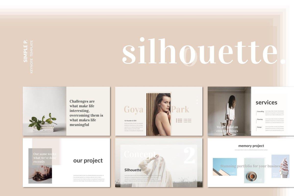 10. Silhoutte Keynote Template