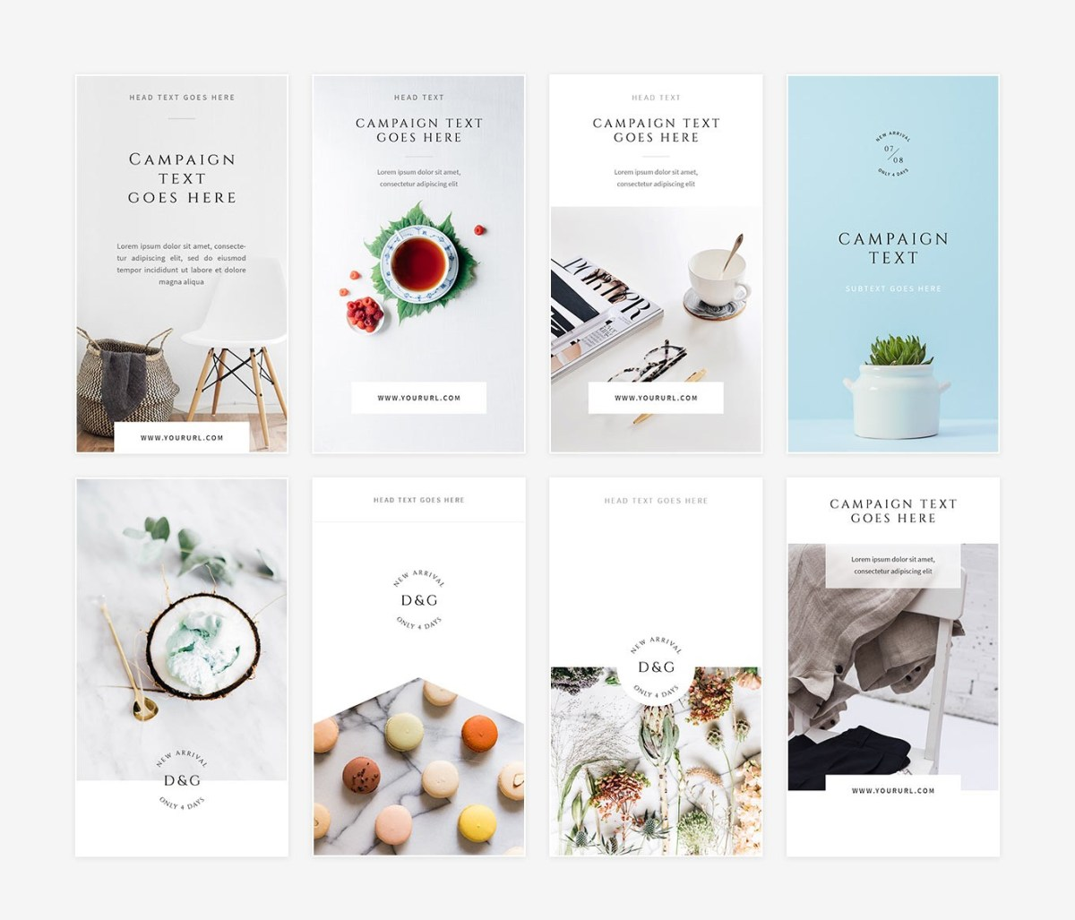 11. White Instagram Stories Pack PSD