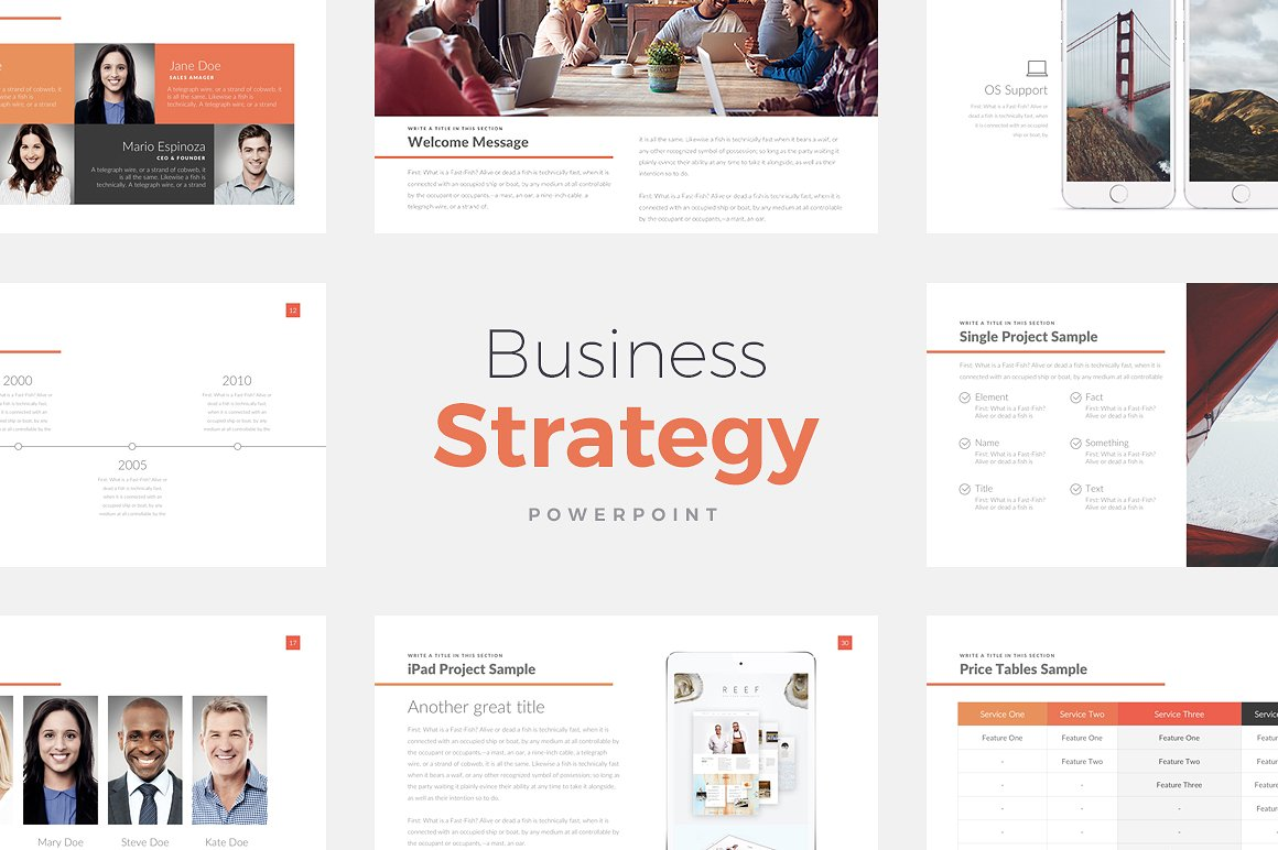 12. Business Strategy Deck PowerPoint