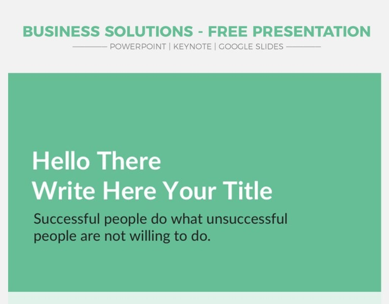 16 - Business Solutions V2 - Free Google Slides Theme