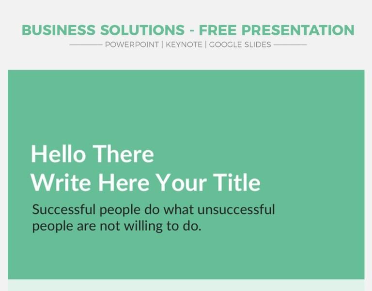 16 - Business Solutions V2 - Free Google Slides Theme