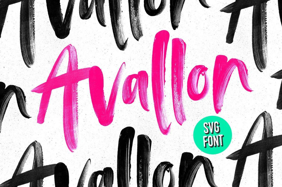17. Avallon OpenType-SVG Font