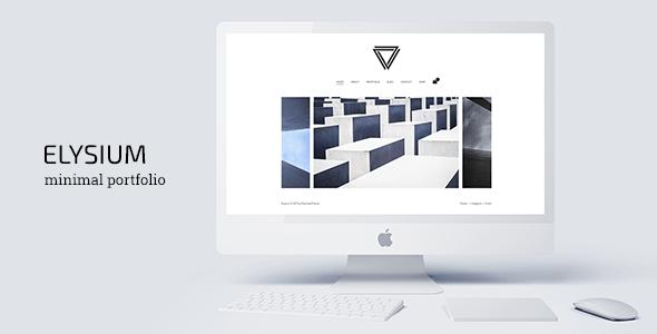 18 - Elysium - Minimal WordPress Portfolio Theme