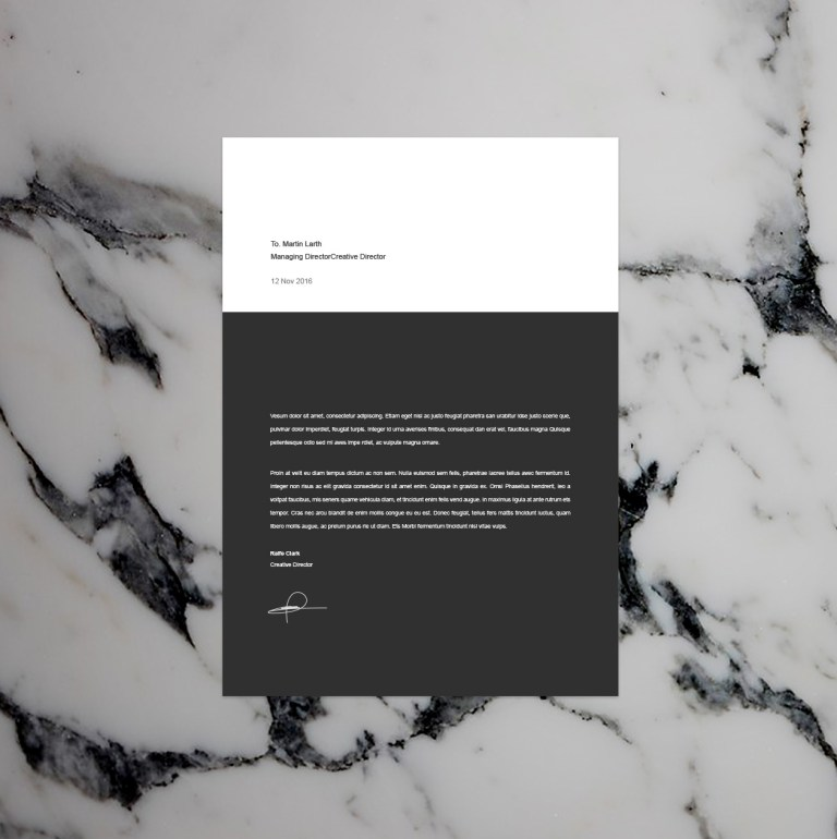 2 - BW Resume Template