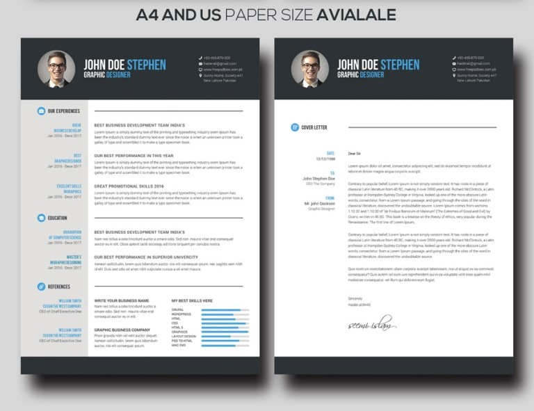 2 - Free Ms.Word Resume and CV Template