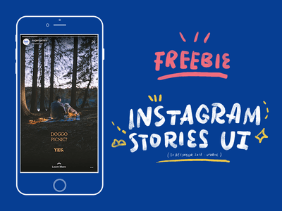 20. Instagram Stories UI Template PSD