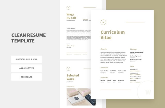 24. Clean Resume Template