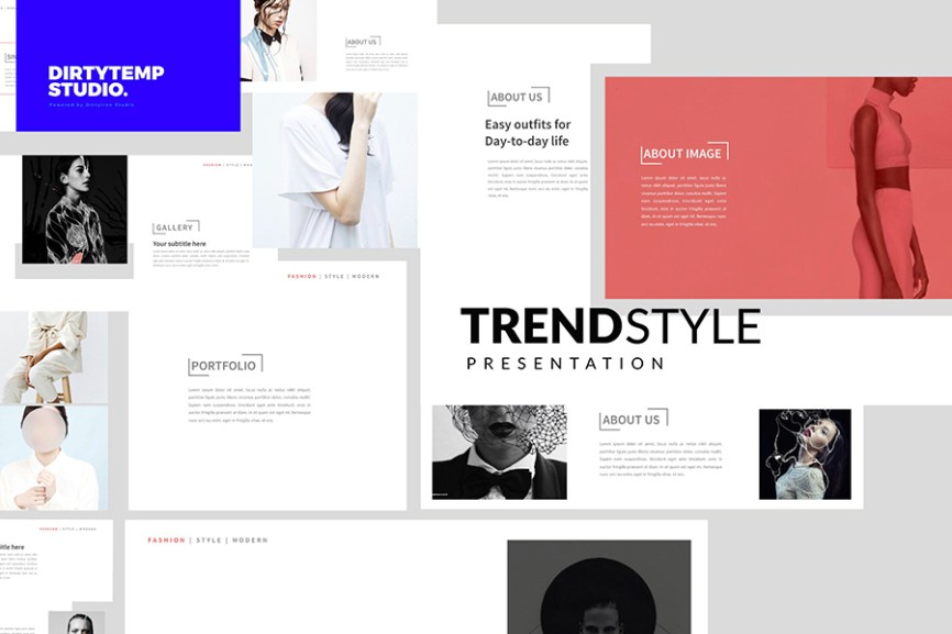 25 - Trends Free Presentation Template